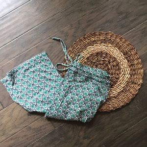 Lucky Brand Green & Blue Boho Lounge Pants